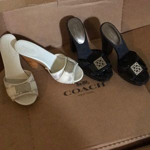 Coach heels , on good condition ,at 35$ each pair